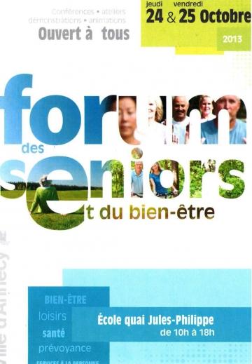 forum,senior,semaine bleue,annecy,retraite,conferences,ateliers