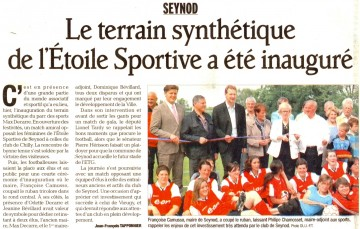 seynod,inauguration,stade,football