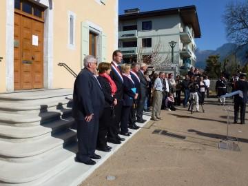 doussard,chasseur alpin,ceremonie,fourragere,monument