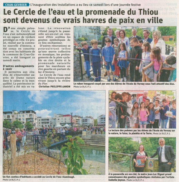 cran-gevrier,inauguration,dauphine libere,annecy,riviere,thiou