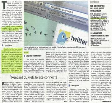 annecy,twitter,classement,reseaux sociaux,presse,dauphine,essor