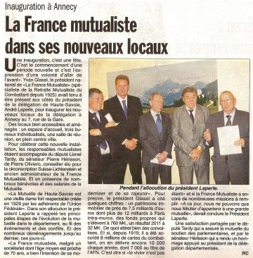 presse,dauphine,haute-savoie,france mutualiste,inauguration,annecy