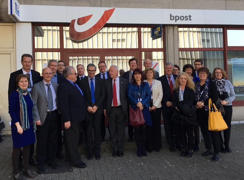 Bruxelles : visite de bureaux de poste de la poste belge bpost