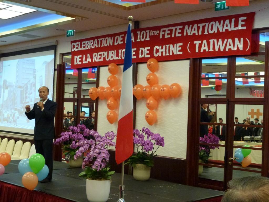 C l bration de la 101 me f te nationale de la r publique de chine taiwan paris lionel tardy - Bureau de representation de taipei ...