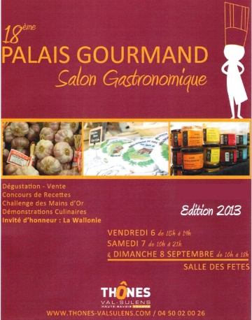 thones,palais,salon,gastronomie,gourmand,vin,terroir,confiture