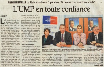 presse,dauphine,annecy,ump,tract,election presidentielle