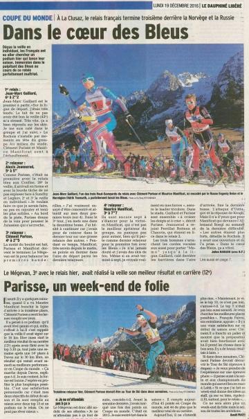 la clusaz,coupe du monde,ski de fond,loisirs,sport,presse,dauphine
