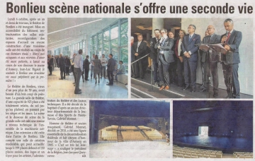 annecy,presse,dauphine,inauguration,bonlieu,scene nationale,theatre,rigaut,elus,parlementaires,conseil general