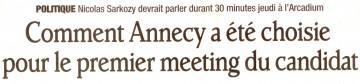 presse,dauphine,annecy,visite,president de la republique,election,meeting,sarkozy,ump,elysee