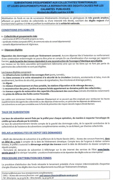 catastrophe naturelle,subvention,equipement,collectivites territoriales,fngca,indemnisation,paris,tardy