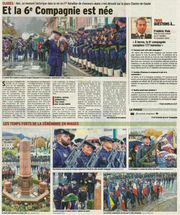 cluses,ceremonie,creation de la 6eme compagnie,chasseurs alpins,haute-savoie