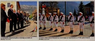 presse,dauphine,doussard,chasseur alpin,ceremonie,fourragere,monument