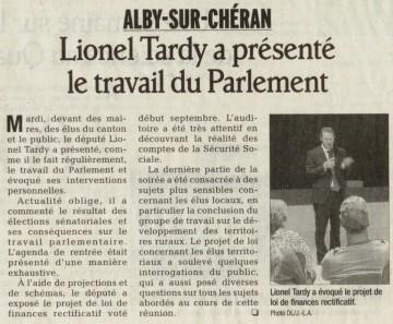 alby-sur-cheran,rencontre-debat,lionel tardy,actualite parlementaire