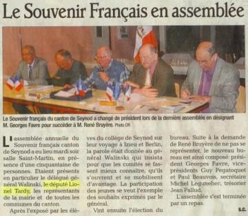 souvenir français,presse,dauphine libere,seynod,assemblee generale