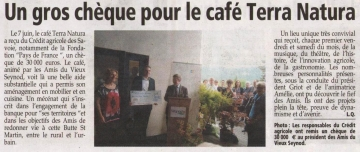 seynod,cafe,inauguration,credit agricole,mecenat,reserve parlementaire,terra natura