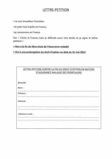 annemasse,frontalier,manifestation,petition,droit d'option