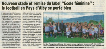 alby-sur-cheran,inauguration,terain synthetique,labellisation,fff