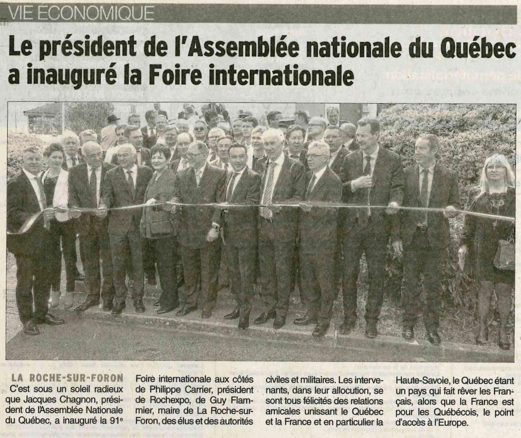 Rochexpo inauguration de la 91 me foire internationale for Foire la roche sur foron 2017