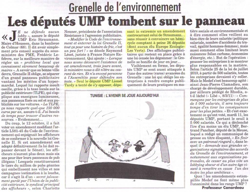 Grenelle de l 39 environnement et panneaux d 39 affichage lionel tardy - Grenelle de l environnement 2009 ...