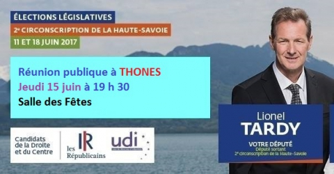 thones,reunion publique,legislatives 2017,lionel tardy,fabienne duliège
