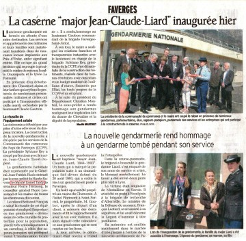 faverges,inauguration,gendarmerie