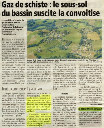 annecy,gaz de schiste,developpement durable,economie,