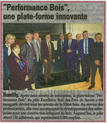 presse,dauphine,rumilly,inauguration,performance bois