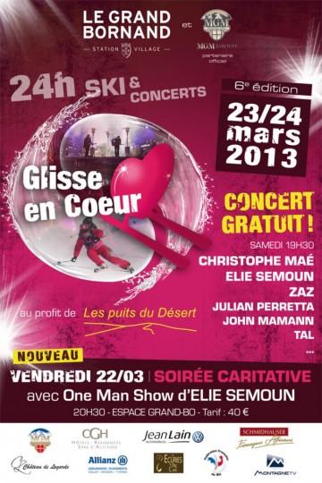 grand-bornand,glisse en coeur,concert,ski