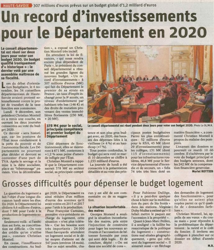annecy,conseil departemental,budget,monteil,haute-savoie,presse,dauphine libere