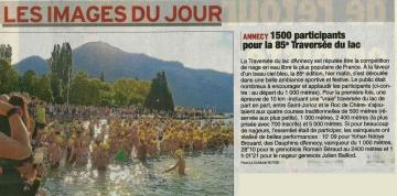 annecy,traversée du lac,85eme edition,haute-savoie