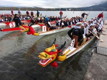 presse,essor,annecy,dragon boat,canoe,kayak,club,marquisats,open,association,entreprise,lac
