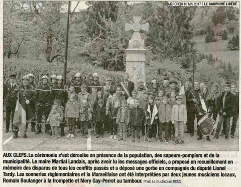 les clefs,ceremonie,8 mai 1945,haute-savoie