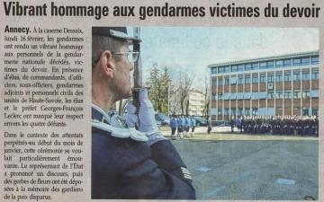 presse,dauphine,annecy,militaire,gendarme,ceremonie,hommage,tardy