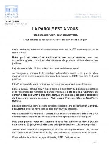 presse,dauphine,tardy,duby-muller,saddier,ump,parlement,adherant,haute-savoie,paris,bulletin d'adhésion ump,2014