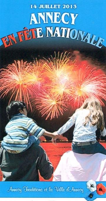 annecy,14 juillet,lac,paquier,feu d'artifice,fanfare