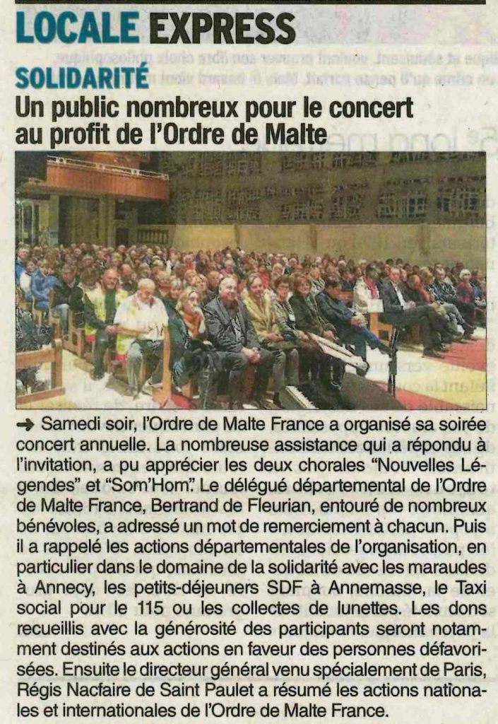 Cran-Gevrier France  city pictures gallery : CRAN GEVRIER : Concert de l'Ordre de Malte France : Lionel TARDY