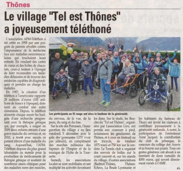 thones,telethon,boule lyonnaise,association