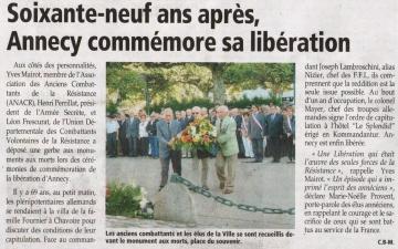 presse,dauphine,liberation,commemoration,ceremonie,annecy,haute-savoie