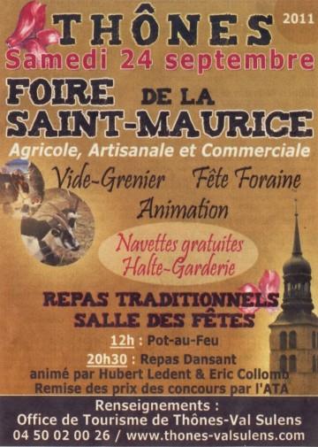 presse,essor,thones,foire saint maurice,agriculture,artisanal,commerce,