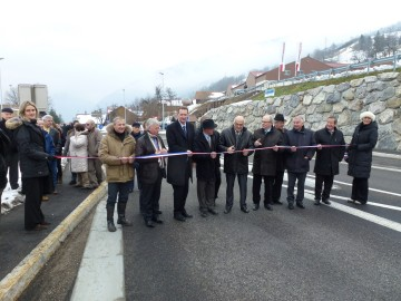 villards-sur-thones,inauguration,route,voiture,rond point,conseil general