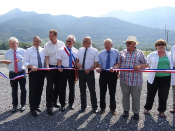 inauguration,carrefour,route,rd 1508,rond point,giratoire,conseil general