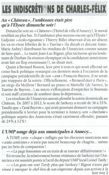 presse,essor,elections presidentielles 2012,resultats,haute-savoie,ump,ump74