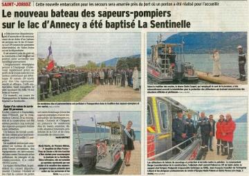 saint-jorioz,sentinelle,bateau de secours,lac d'annecy
