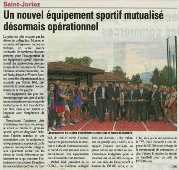 presse,dauphine,saint-jorioz,inauguration,terrain,football,synthetique