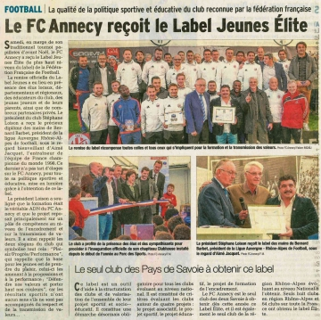 annecy,label jeunes fff,inauguration,club house,fc annecy