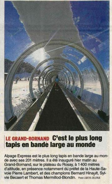 grand bornand,tapis alpage express,inauguration,haute-savoie,plateau du rosay