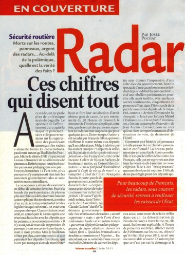 presse,valeurs actuelles,radar,securite routiere,prevention routiere,accident