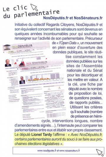 presse,revue parlementaire,legislatives 2012,nosdeputes.fr