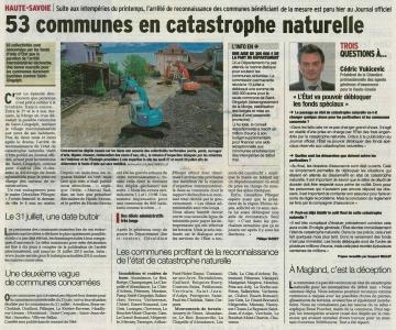 intempéries,inondations,mai,faverges,thônes,coulées,terrains,catastrophe naturelle,arrêté