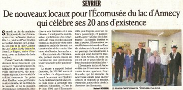 sevrier,ecomusee,inauguration